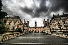 Piazza del Campidoglio    Michelangelo's design of the Piazza del Campidoglio in Rome is very impressive
