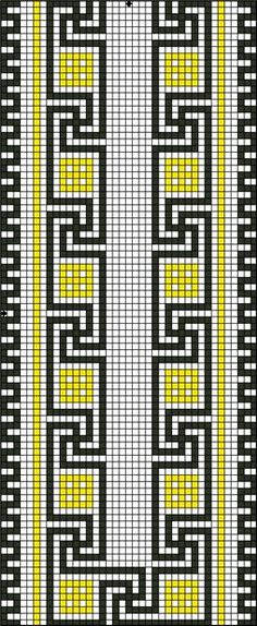 Beading _ Pattern - Motif / Earrings / Band ___ Square Sttich or Bead Loomwork ___ Gallery. Cross Stitch Bookmarks, Cross Stitch Borders, Cross Stitching, Cross Stitch Embroidery, Embroidery Patterns, Cross Stitch Patterns, Seed Bead Patterns, Weaving Patterns, Tapestry Crochet Patterns