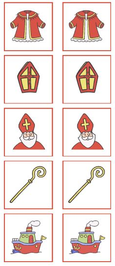 Begeleide of zelfstandige activiteit - Memory Santa Claus Clipart, Santa Claus Images, Atelier Theme, St Nicholas Day, Snow Activities, Theme Noel, Winter Kids, Creative Kids, Christmas Crafts