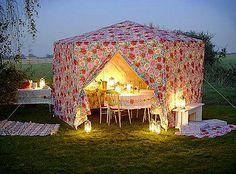 Romantic outdoor tent...