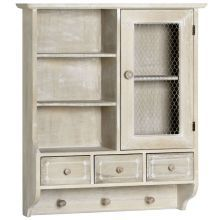 Amore Limed Antique French Kitchen Wall Unit Kitchen Wall Units, Kitchen Wall Shelves, Kitchen Cupboards, French Kitchen, New Kitchen, Kitchen Tips, Display Shelves, Shelving, Cabinet Island