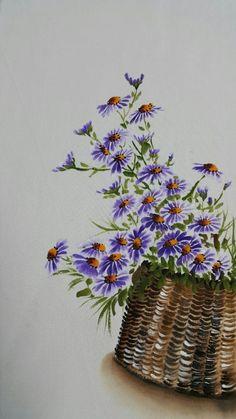 날씨가 많이 추워졌어요 추위를 이기는 나만의 비법꼼짝않고 공방에서 수강생님들과 그림그리기~~바구니에 ... Fabric Painting, Fabric Art, Watercolour Painting, Watercolor Flowers, Painting & Drawing, Soft Pastel Art, Purple Art, Illustration Art, Illustrations