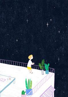 밤 하늘 별 - 디지털 아트 · 일러스트레이션, 디지털 아트, 일러스트레이션, 디지털 아트, 일러스트레이션
