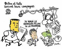 Plantu (2017-01-03) FRANCE: PEILLON ET VALLS LANCENT LEURS CAMPAGNES.