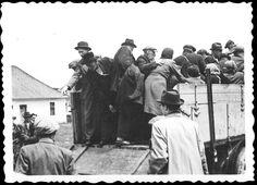 Bratislava, Slovakia, Jews boarding a deportation truck. Bratislava Slovakia, Socialism, Photo Archive, Eastern Europe, World War Two, Ww2, Truck, History, Couple Photos