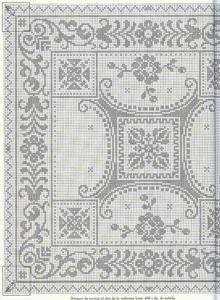 Kira scheme crochet: Scheme crochet no. Filet Crochet Charts, Crochet Cross, Crochet Diagram, Crochet Motif, Crochet Doilies, Crochet Patterns, Cross Stitch Borders, Cross Stitch Charts, Cross Stitching