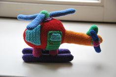 Helicopter. patroon Annemarie Arts http://www.mijnwebwinkel.nl/winkel/made-by-stientjen crochet helicopter