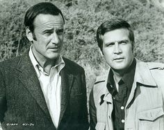 Oscar Goldman and Steve Austin.