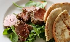 Fennel-Crusted Pork Tenderloin with Crisp Pita