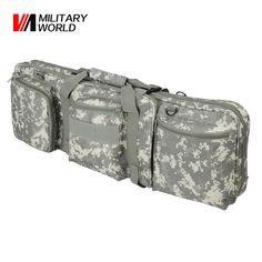 Military World 85CM Rifle Bag Airsoft Tactical Gun Bag Dual Hunting Shotgun Handbag With Shoulder Strap Combat Fishing Pouch
