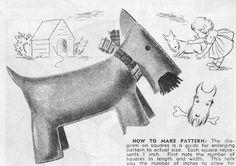 PDF Pattern Scottie Dog Vintage Toy Pattern by McPhersonStVintage, $1.69