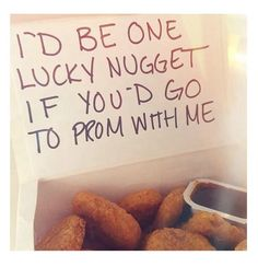 Proposal Ideas friends To be honest, if one of my guy friends asked me to prom and brought me chicken n. To be honest, if one of my guy friends asked me to prom and brought me chicken nuggets, his chances would be significantly higher Cute Homecoming Proposals, Formal Proposals, Homecoming Ideas, Homecoming Dresses, Homecoming Posters, Homecoming Signs, Homecoming Spirit, Homecoming Dance, Wedding Proposals