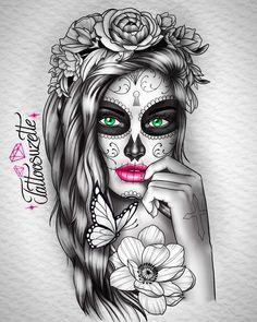 Bff Tattoos, Body Art Tattoos, Sleeve Tattoos, Skull Tattoos, Tattoo Designs, Floral Tattoo Design, Tattoo Sketches, Tattoo Drawings, Indian Women Tattoo