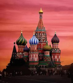 ...St. Basil's Cathedral in Moscow.