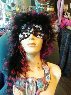 Mask Feathers in Flight by TheFunkyGypsy on Etsy, $79.50