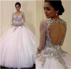 Cool ball gown wedding dresses with bling and sleeves 2017-2018 Check more at http://24myfashion.com/2016/ball-gown-wedding-dresses-with-bling-and-sleeves-2017-2018/