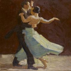 Cornelis Johannes 'Kees' Maks (1876-1967) A dancing couple, oil on canvas. Collection Simonis & Buunk, The Netherlands.