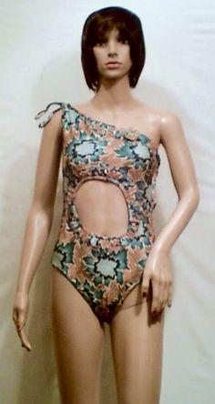 Real Spandex Bathing suit Wild Flowers