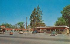 Hillcrest Restaurant and Motel - Tillsonburg, Ontario by The Pie Shops Collection, via Flickr Pie Shop, Motel, Ontario, Childhood, Shops, Teen, Cabin, Restaurant, Memories
