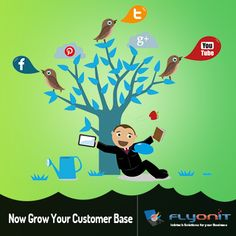 Looking to grow your #online presence & increase your customer base? Then you need a comprehensive #SocialMediaStrategy. Our #SocialMediaMarketing solutions can help you grow your customer base & expand your business - #Flyonit