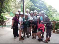 In Costa Rica, Cal U study abroad students  had the chance to go zip lining.