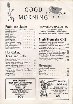Vintage lifestyle: Fall in love with the most amazing vintage decor ideas for your vintage restaurant Menu Vintage, Vintage Diner, Vintage Ads, Retro Ads, Vintage Style, Cafe Menu, Diner Menu, Restaurant Menu Design, Vintage Restaurant