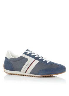 Trendy Tommy Hilfiger Branson sneaker met suède details (Blauw grijs) Sneakers van het merk Tommy Hilfiger voor Heren . Uitgevoerd in Meerdere kleuren gemaakt van Suede.