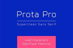 "Prota Pro Font (Intro -50%) by Igor Petrovic  on @creativemarket Prota Pro is a new super-clean font. It has an ultra-modern and noble-tech look, inspired by the appearance of top-notch IT brands. The refined design, which celebrates maximum legibility, represents the philosophy of minimalism and functionality sublimed in the credo ""Less is more"". It has over 440 characters (supporting over 80 Latin-based languages) and extensive sets of punctuation, symbols, monetary signs (26 currencies)…"