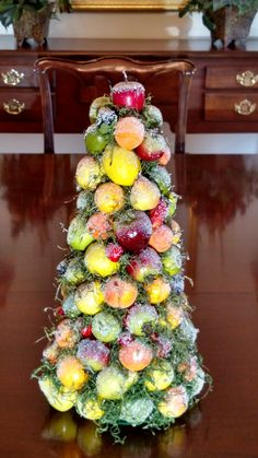 Williamsburg Iced Fruit Topiary Christmas by BeautyBerryFlorals
