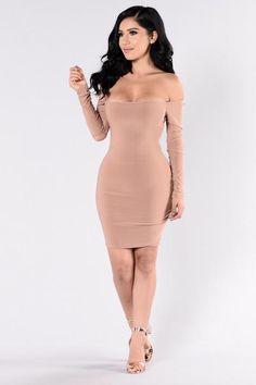 Slay Like Ky Dress - Mocha | Fashion Nova
