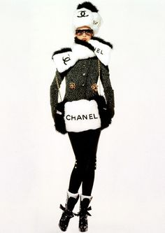 Wearing Chanel in winter.....I HAVE to have this, even if I wear it to Target!!!!