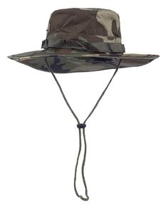 b791f4e0364 Jemis NEW High Quality Fishing Hiking Snap Brim Military Bucket Sun Hat Cap  Woodland Camo Cap
