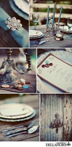 vintage theme wedding with buttons