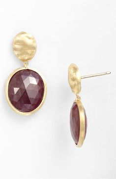 Marco Bicego 'Siviglia' Sapphire Drop Earrings available at #Nordstrom