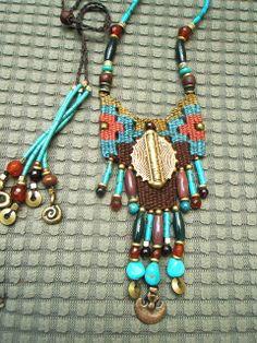 ~recent work ~ Fiber Art Jewelry, Jewelry Art, Beaded Jewelry, Jewelry Design, Beaded Bracelets, Necklaces, Seed Bead Necklace, Boho Necklace, Trendy Jewelry