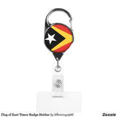 Flag of East Timor Badge Holder