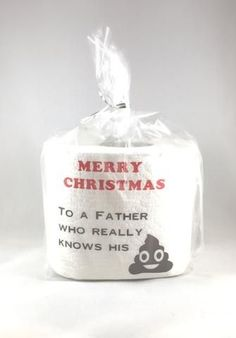 Merry Christmas Toilet Paper for Dad