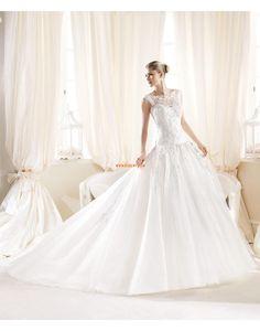 Hall Bateau/Båtringning Organza Bröllopsklänningar 2014