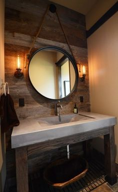 Rustic Bathroom Sink Ideas: Concrete Bathroom Sinks That Make A Strong Statement Rustic Bathroom Sink Ideas: Concrete Bathroom Sinks That Make A Strong Statement Rustic Bathroom Lighting, Rustic Bathrooms, White Bathrooms, Luxury Bathrooms, Master Bathrooms, Dream Bathrooms, Master Bedroom, Concrete Sink, Concrete Bathroom