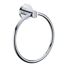 Gatco 4682 Channel Towel Ring, Chrome