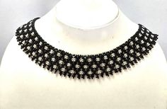Black Choker Necklace, Seed Bead Necklace, Black Bead Necklace, Black Necklace, Black Choker, Choker for Women, Small Beads Necklace, Choker by FusionCraftJewelry on Etsy
