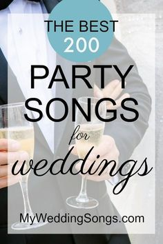 Need wedding reception songs? See our list of Top 200 Best Party Songs to get people on the dance floor. Many music styles like Rock R&B Country Dance. wedding party 200 Best Party Songs for Non-Stop Dancing In 2020 Best Wedding Dance, Wedding Songs Reception, Wedding Music, Wedding Venues, Wedding Ideas, Wedding Party Dance Songs, Wedding Entrance, Wedding Inspiration, Reception Party