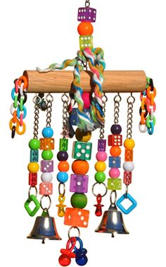 Bonka Bird Toys - 879 CHAIN WATERFALL BIRD TOY parrot cage toys cages African grey amazon conure., $17.99 (http://www.bonkabirdtoys.com/879-chain-waterfall-bird-toy-parrot-cage-toys-cages-african-grey-amazon-conure-1/)