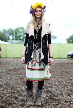 folk florals festival outfit