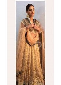 Kmozi Cream Color Designer Lehenga Choli..  http://www.kmozi.com/bollywood-replica/online-shopping-bollywood-actress-lehenga-choli/kmozi-cream-color-designer-lehenga-choli-1273