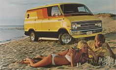 Do guys with moustaches and hot rod vans play chess at the beach with girls in bikinis? Is that a thing?