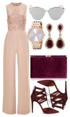 """Untitled #222"" by omgitskaylapope on Polyvore featuring Elie Saab, Monsoon, Effy Jewelry, Aquazzura, Michael Kors and Christian Dior"