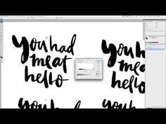 How To Digitize Brush or Hand Lettering – Hand Lettering Tutorial