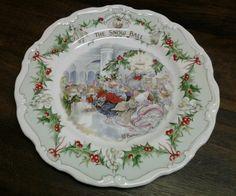 RoyalDoulton Brambley Hedge Plate The Snow Ball Jill Barkham 1984 | eBay