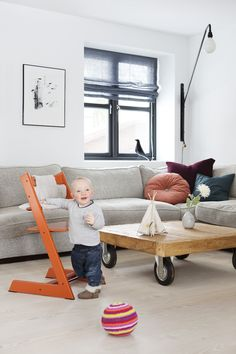 """The Stokke Tripp Trapp is not your average highchair. When it debuted in 1972, it was the first-of-its-kind to boast long-lasting and ergonomic as two of its key features. And when we say long-lasting, we mean it—babies can securely and comfortably sit in the Tripp Trapp at six months (with baby set) and use the chair for life!"" via Project Nursery"